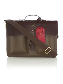 Colour Blockleather Briefcase