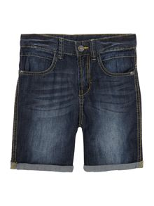 Boys Turn Up Denim Shorts