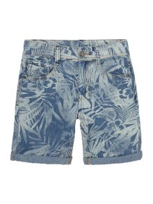 Boys Palm Print Shorts