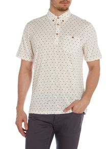Haverford Regular Fit Polo Shirt In Triangle Prin