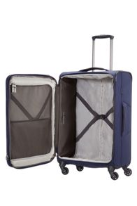 Samsonite Short-lite navy 4 wheel 66cm suitcase