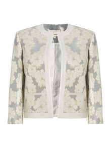 Floral jacquard edge to edge jacket