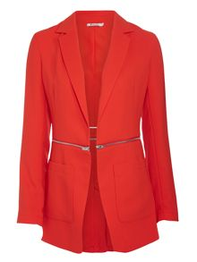 T by Alexander Wang Drape suiting zip waist blazer