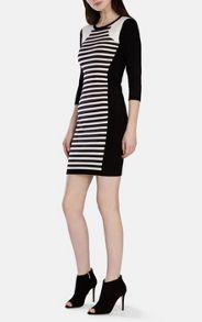 Clean stripe knit dress
