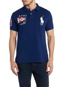 Flag Detail Polo Shirt