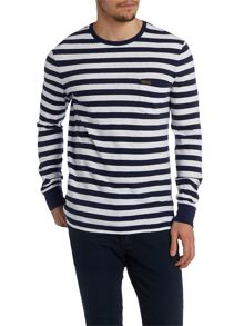 Polo Ralph Lauren Stripe Crew Neck Pull Over Jumper