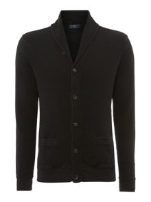 Textured Shawl Neck Button Cardigan
