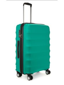 Juno teal 4 wheel cabin suitcase