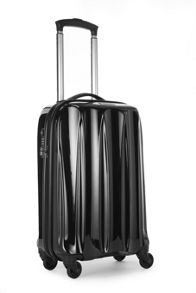 Tiber 4 wheel black soft cabin suitcase