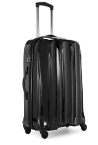 Tiber 4 wheel large hard rollercase black