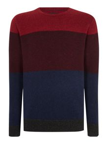 Howick Stoneham Panel Crew Neck Jumper