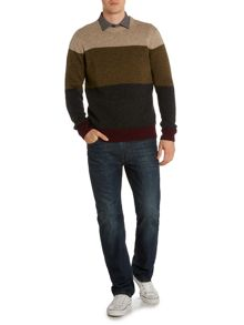 Stoneham Panel Crew Neck Jumper