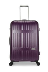 Jupiter purple 4 wheel hard medium suitcase