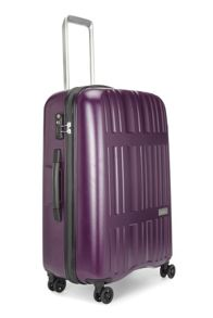 Antler Jupiter purple 4 wheel hard medium suitcase