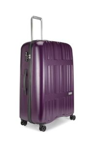 Jupiter purple 4 wheel hard large suitcase