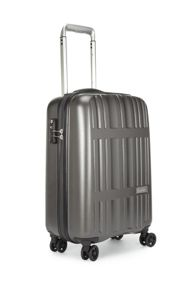 Jupiter charcoal 4 wheel hard cabin suitcase