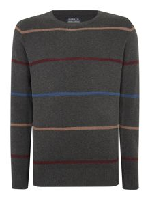 Howick Brookline Stripe Crew Neck Jumper