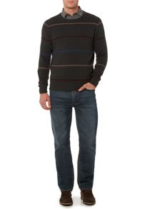 Brookline Stripe Crew Neck Jumper