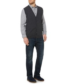 Arlington Sleeveless 100% Lambswool Cardigan