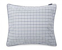 Checked Poplin housewife pillowcase in blue