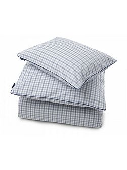 Checked Poplin square pillowcase in blue