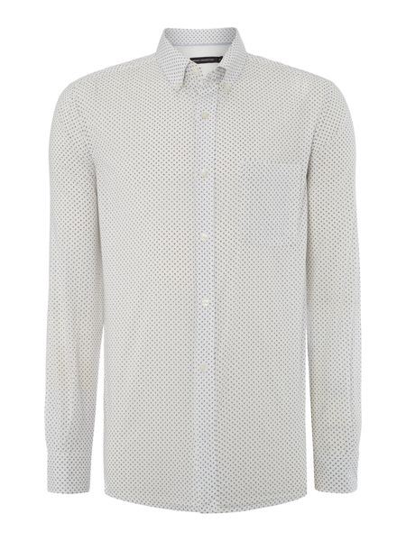 French Connection Nerine Ditsy Polka Dot Slim Fit Shirt