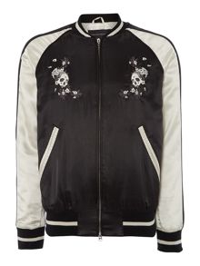French Connection Muscari Skull Bomber Jacket