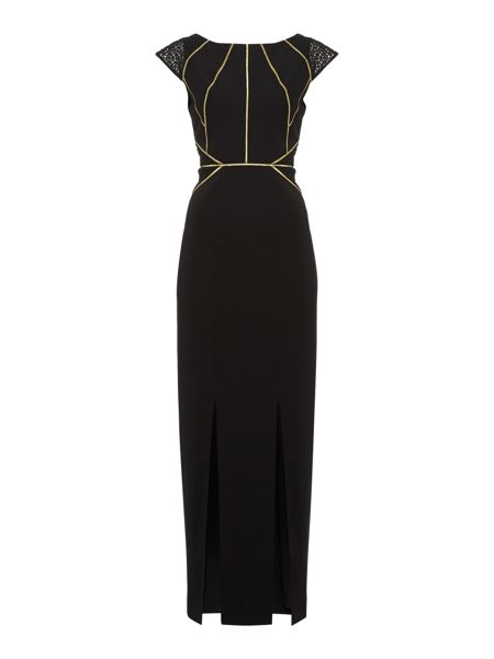 Biba Panelled Lace and Embroidery Detail Maxi