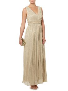 Metallic deep v maxi