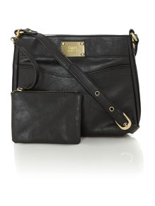 Noah black small crossbody bag