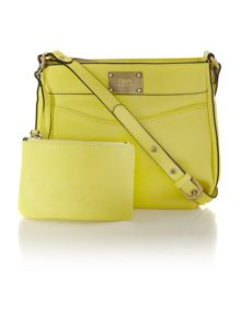 Noah yellow crossbody bag