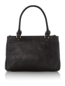 Noah black crossbody toe bag