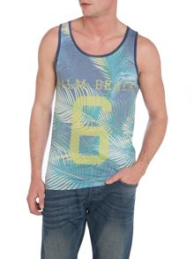 Print Crew Neck Regular Fit Vest