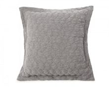 Lexington Quilted Linen Sham 65X65 in Grey with inner