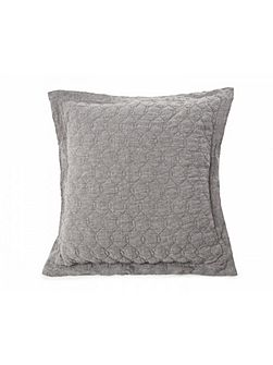 Quilted Linen Sham 65X65 in Grey with inner