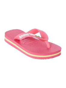 Girls Rose Flip Flops