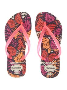 Girls Butterfly Flip Flops