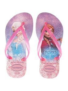 Girls Frozen Pink Flip Flops