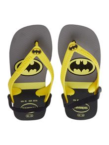Newborn boy Batman flip flop