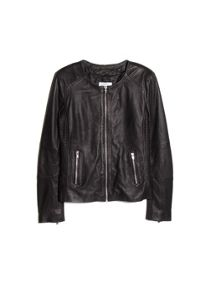 Zip leather jacket