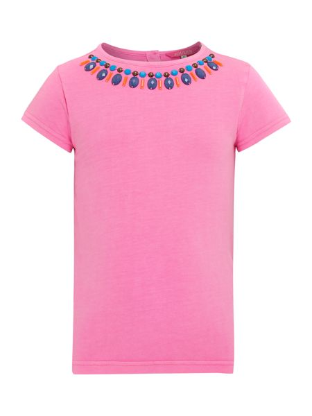 Joules Girls Print At Neck Jersey T-Shirt
