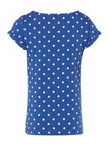 Joules Girls Polka Dot Jersey Tshirt With Horse