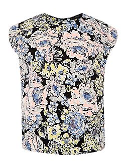Therapy Pastel floral shell top