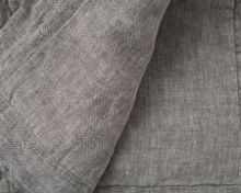 Quilted Linen Bedspread 160x240 in Grey