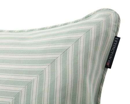 Lexington Ticking striped sham with inner 50x50, Green