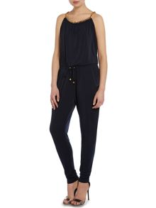Jumpsuit with chain neck detail