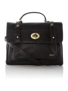 Hugo black satchel bag
