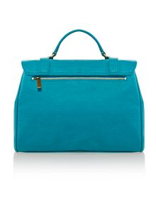 Hugo blue satchel bag