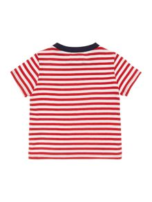 Boys Stripe Through T-Shirt With Large Pony