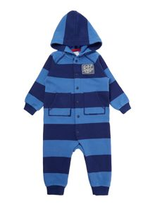 Boys Block Stripe All In One Wiht Hood